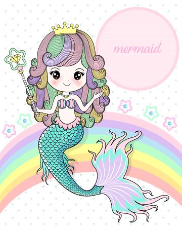 Mermaid holding a magic wand