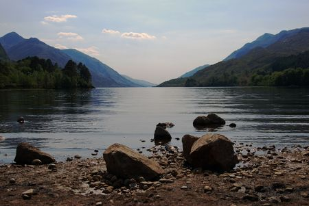 loch: looking out over the lake Loch Shiel from Glenfinnan