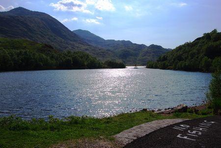 No Fishing sign at the lakeside of Loch Shiel