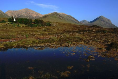 glen: Red Hills belonging to the Cuillin on the beautiful Isle of Skye