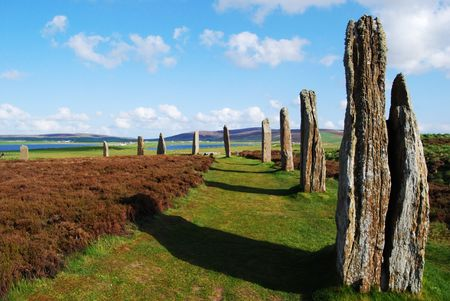 mystic Ring of Brodgar on the beautiful Orkney Islands