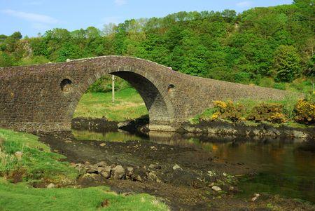 famous Bridge over the Atlantic to the Isle of Seil, Scotland