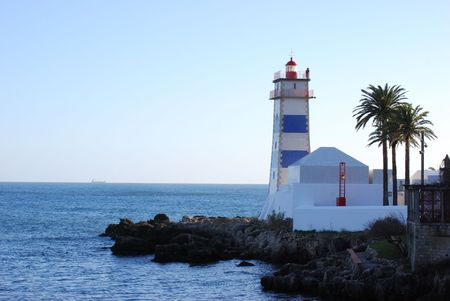 Light in the harbour of Cascais, Portugal photo