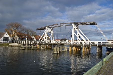 counterpoise: famous old counterpoise bridge in Wieck, germany Stock Photo