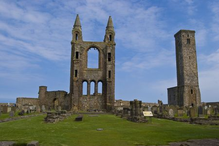 andrews: ruin of the cathedral of St Andrews