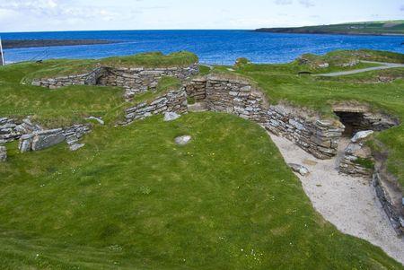 �ge de pierre: l'�ge de pierre du village Skara Brae � Orkney, en Ecosse