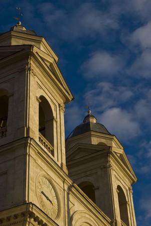 detail of the church SS Trinita dei Monti in Rome photo