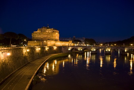 famous and historic Castel SantAngelo in Rome, Italy photo