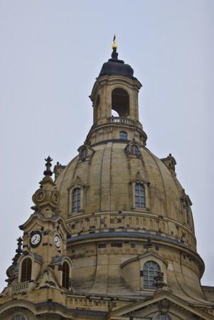 frauenkirche: umgebaut ber�hmten Frauenkirche in Dresden in Sachsen Lizenzfreie Bilder