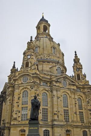 saxony: famous rebuilt Frauenkirche in Dresden in Saxony