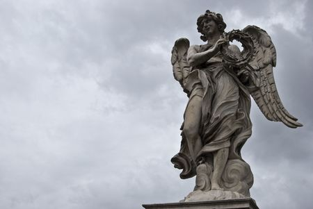 sculpture of the famous Ponte Sant Angelo in Rome by Bernini photo