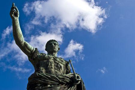 supremacy: statue of the famous roman emperor Julius Caesar