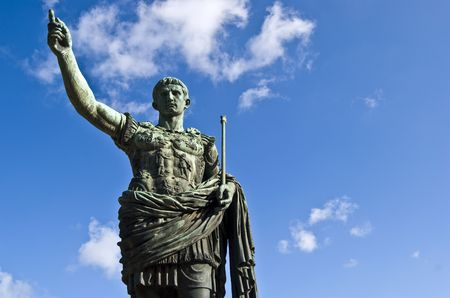 statue of the famous roman emperor Julius Caesar photo