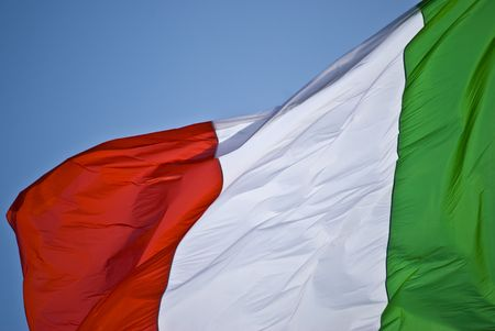 flag of Italy flying in the breeze