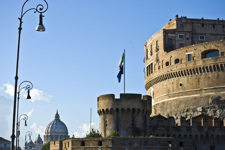 detail of the famous Castel Sant Angelo in Rome Stock Photo - 4828183