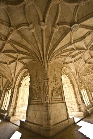 detail of the beautiful cloister of the monastery Editorial