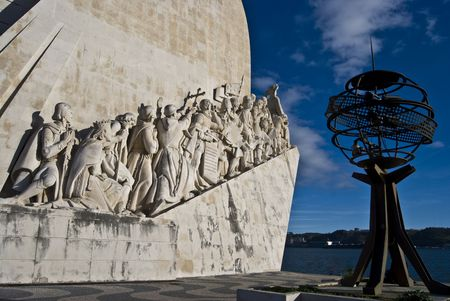 discoveries: famous monumemt for the discoveries in Belem Editorial
