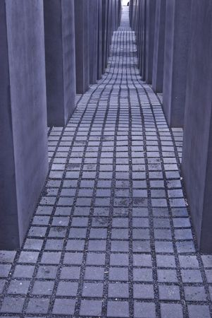 detail of the holocaust memorial in Berlin