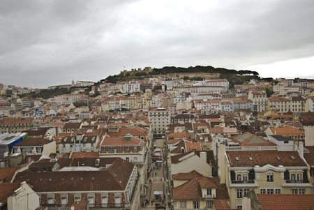 baixa: looking over the Baixa and its roofs