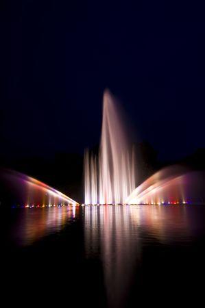 un: beautiful show with fountains and music in Planten un Blomen, Hamburg Stock Photo
