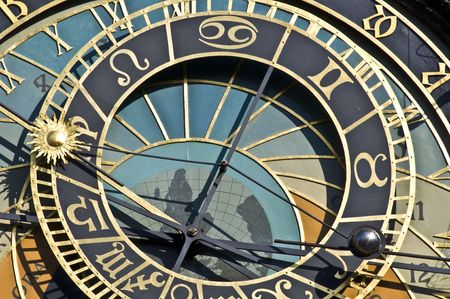 detail of the famous astronomical clock in Prague photo
