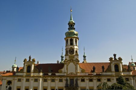 notability: heritage of Loreto  in Prague on a sunny day