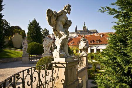 part of the beautiful Wrtba garden in Prague photo