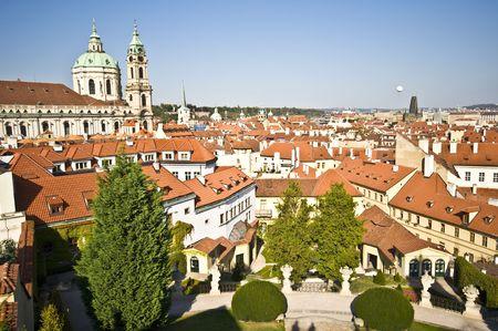 view of St Nicolas in Mala Strana in Prague photo