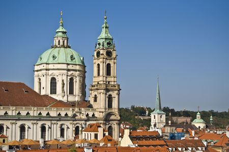 nicolas: view of St Nicolas in Mala Strana in Prague
