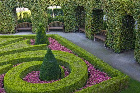 part of the beautiful Wrtba garden in Prague Standard-Bild