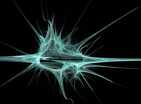 fractal looking like a synapse with many nerve ends