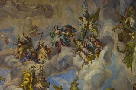 christendom: detail of the fresco in the Karlskirche in Vienna