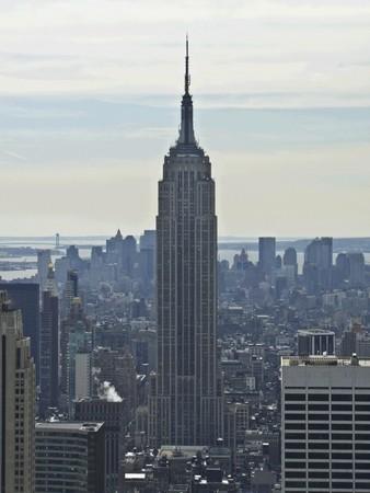 imperium: uitzicht op de beroemde Empire State Buildung in New York