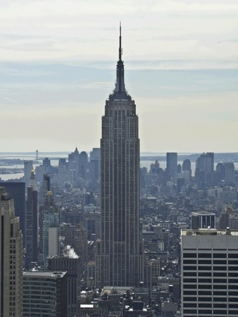 view of the famous Empire State Buildung in NYC