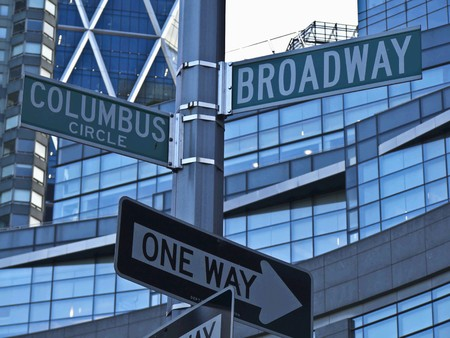 street sign of the Broadway in New York City