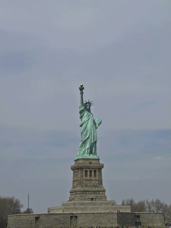 view of the famous Statue of Liberty Stock Photo - 7104770