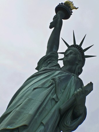 view of the famous Statue of Liberty photo