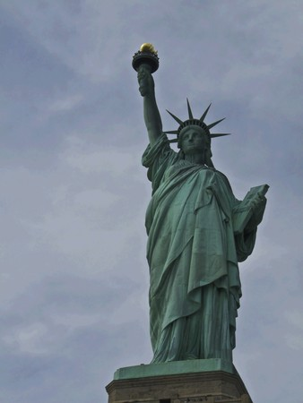 view of the famous Statue of Liberty Stock Photo - 7104730