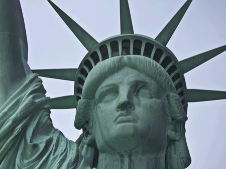view of the famous Statue of Liberty Stock Photo - 7104769