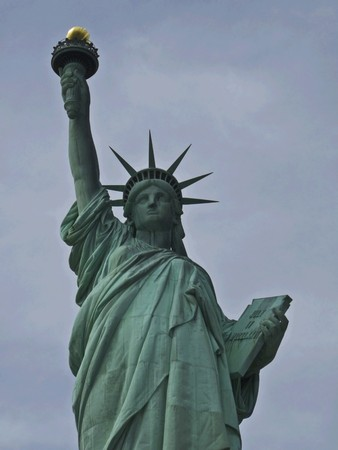 view of the famous Statue of Liberty Stock Photo - 7104750