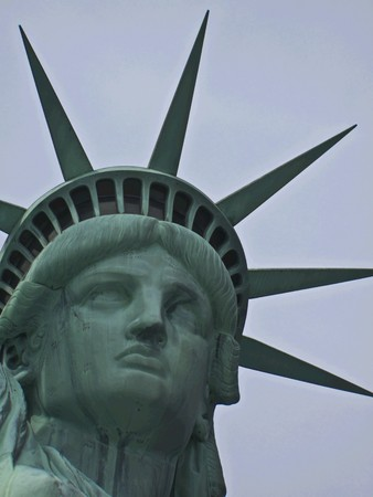 view of the famous Statue of Liberty Stock Photo - 7104729