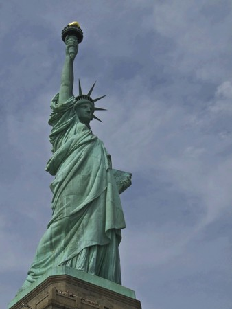 view of the famous Statue of Liberty Stock Photo - 7104768