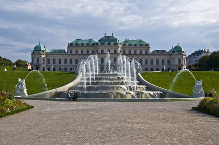 beautiful palace Belvedere in Vienna on a sunny day Standard-Bild