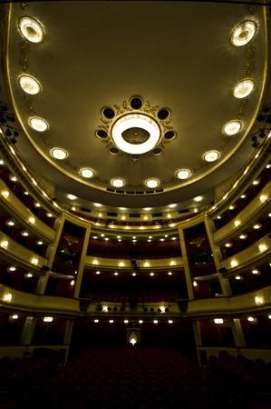 beautiful interior of the Burgtheater in Vienna photo