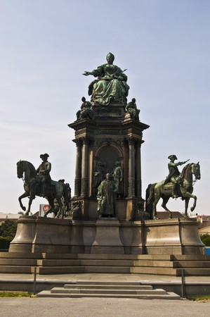 habsburg: statue of the famous monarch Maria Theresia of Habsburg