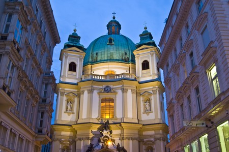 famous street next to the Stephansplatz in Vienna photo