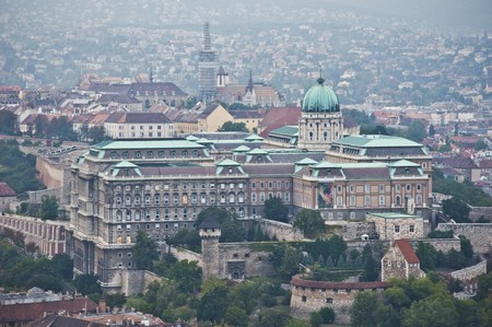 aerial view of the famous castle complex of Budapest Stock Photo - 7570368