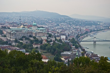aerial view of Budapest Stock Photo - 7570279