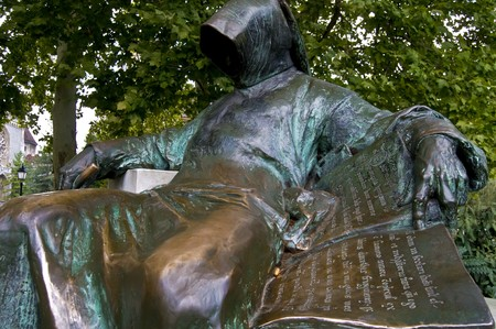 monument for an anonymous but famous hungarian writer Stock Photo - 7610522