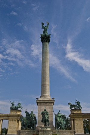 detail of the heroes square in Budapest Stock Photo - 7883045